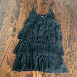 Betsey Johnson Ruffle Black Mini Dress